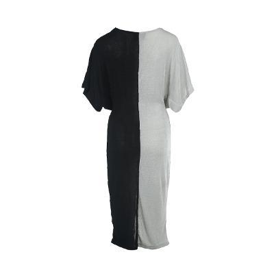 two tone draping dress multi